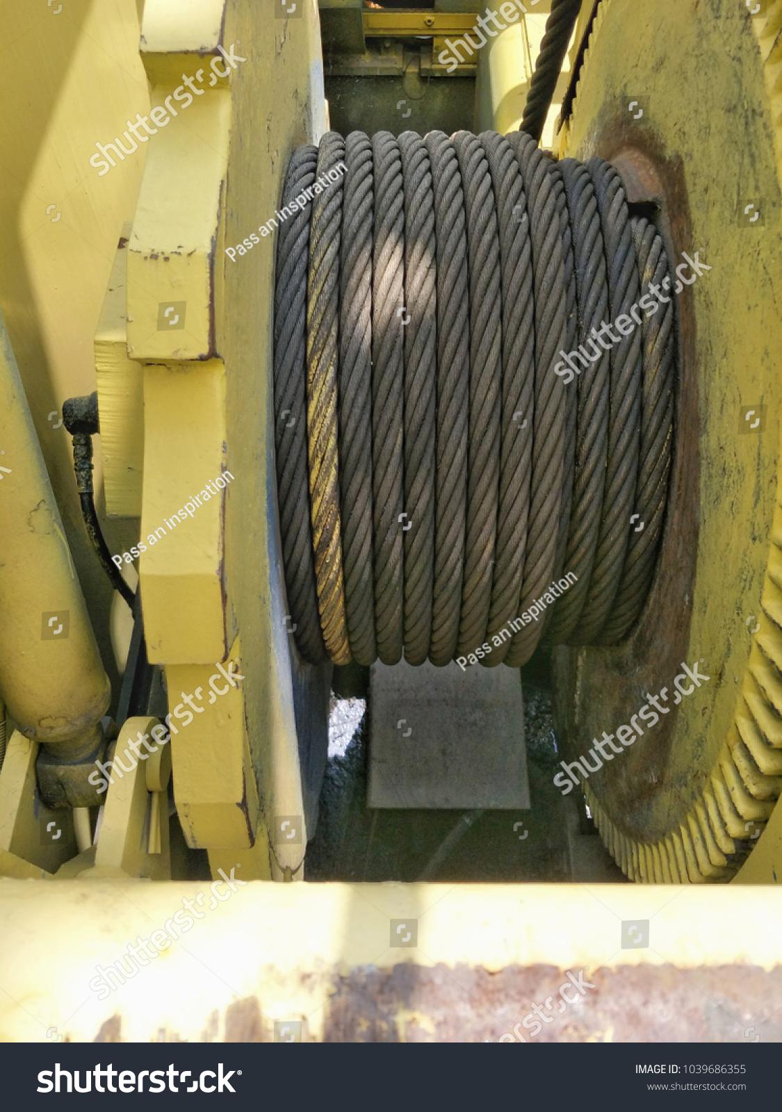 Sling Dump Wire Rope Crawler Crane Stock Photo Edit Now 1039686355 Powerhorse Engine Wiring Diagram Of
