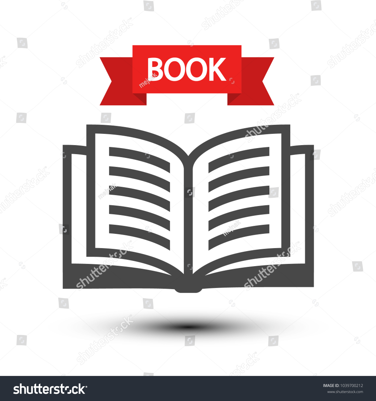 Open Book Icon Vector Reading Symbol Isolated on White Background