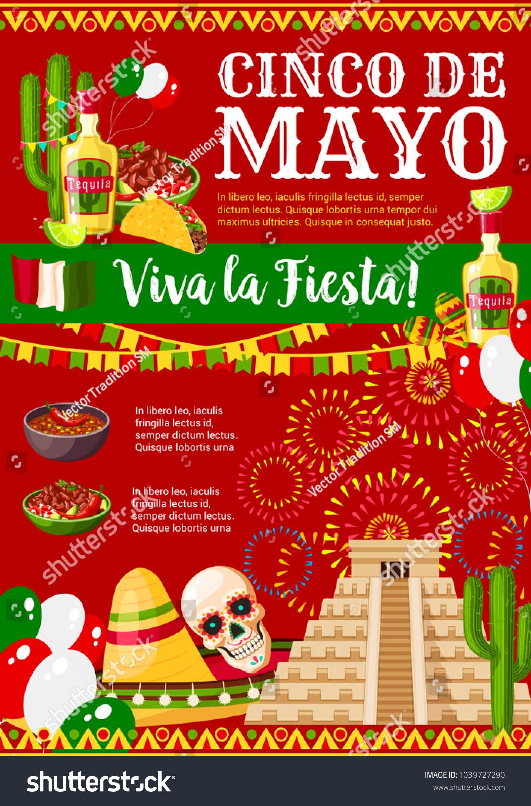 Cinco De Mayo Greeting Card Mexican Stock Vector Royalty Free