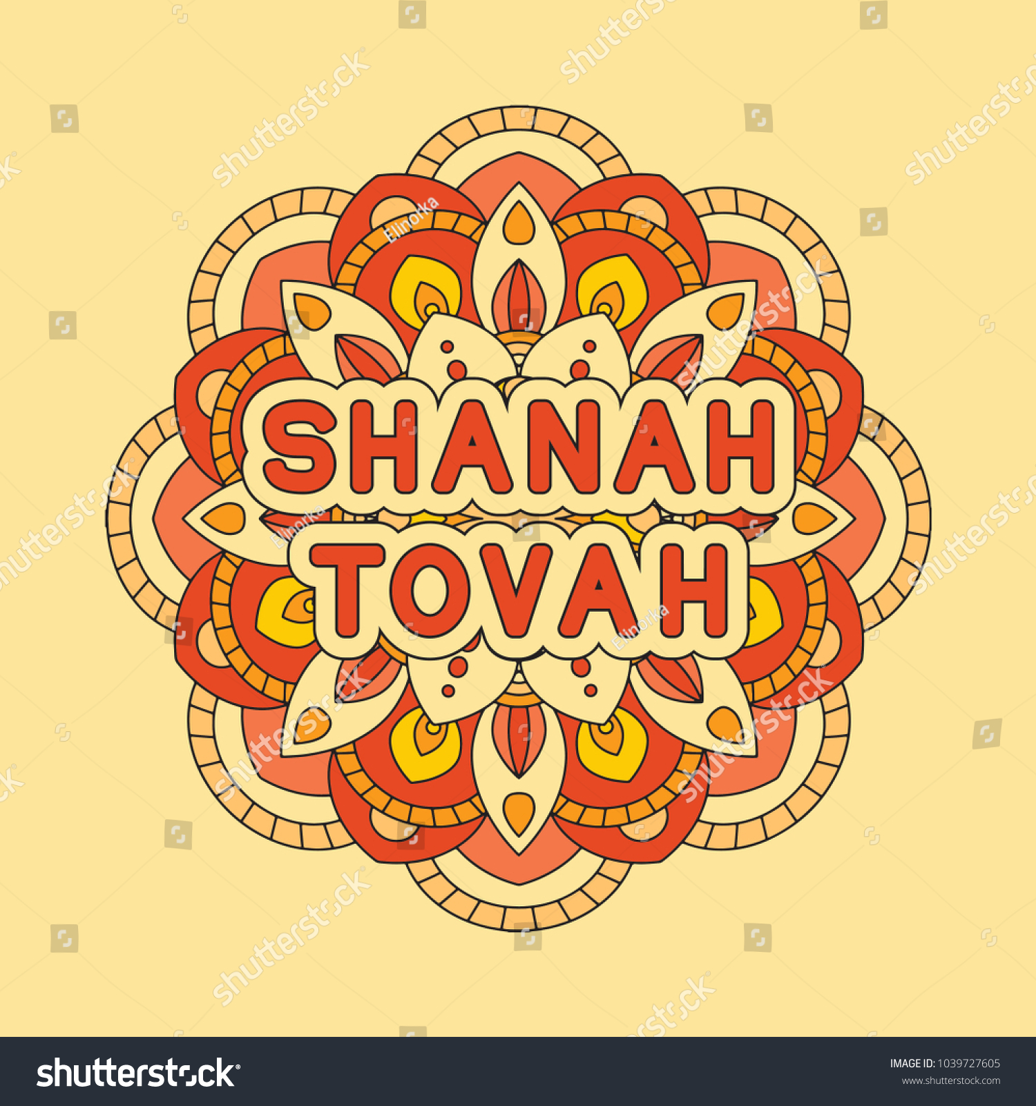 Rosh hashanah jewish new year greeting stock vector 1039727605 rosh hashanah jewish new year greeting card design with abstract ornament greeting text shanah kristyandbryce Choice Image