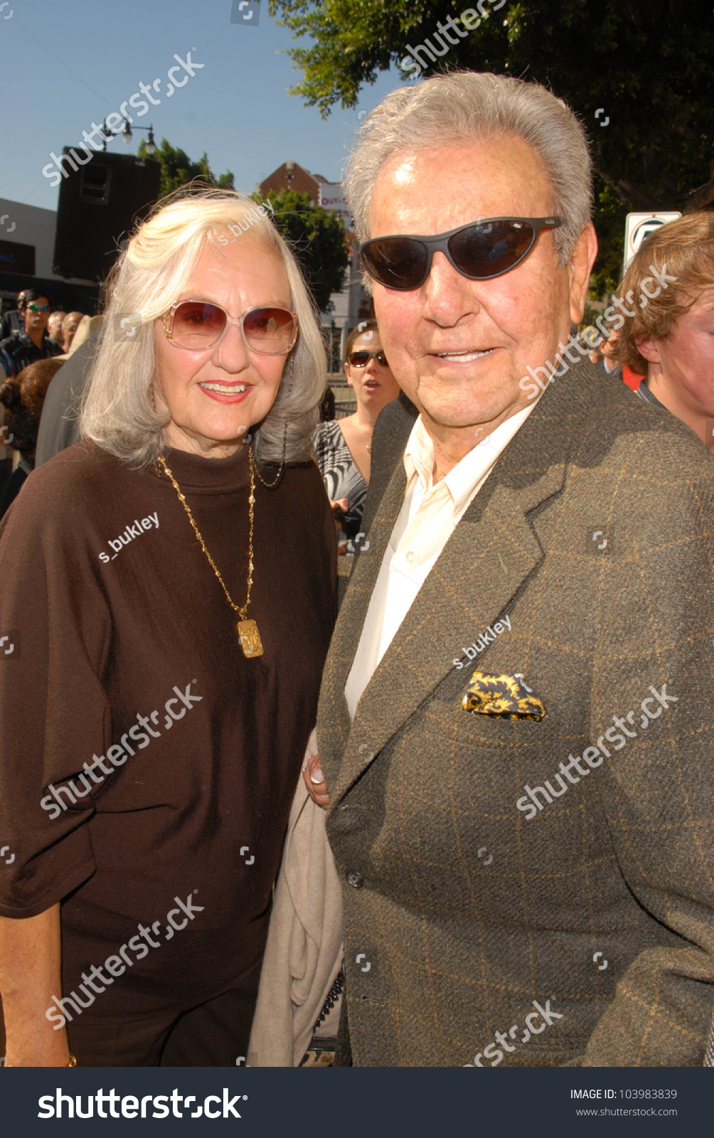 Mike Connors Wife Mary Lou Willey Stock Photo 103983839 ...