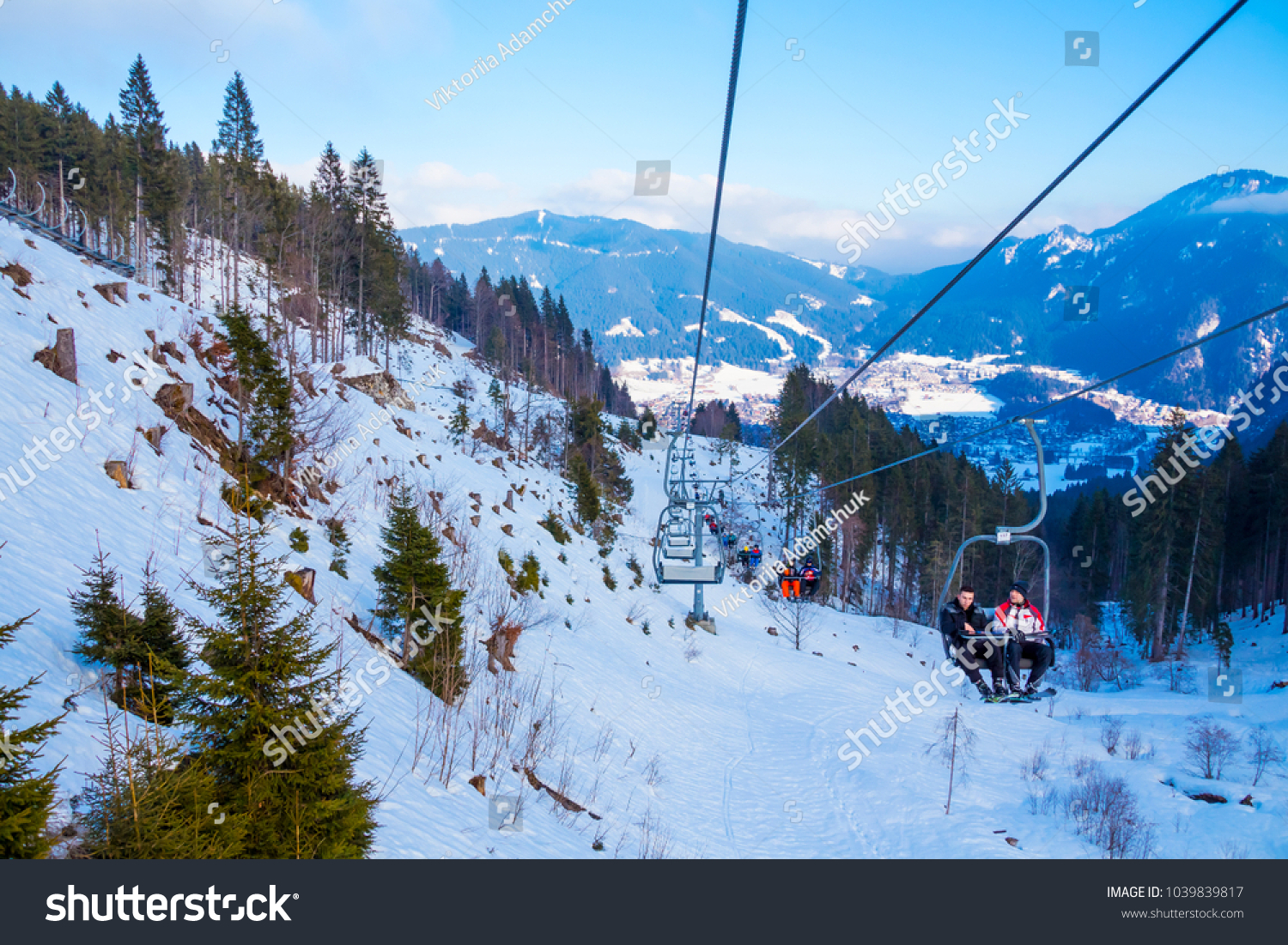 oberammergau germany january 13 2018 ski lift stock photo (edit now