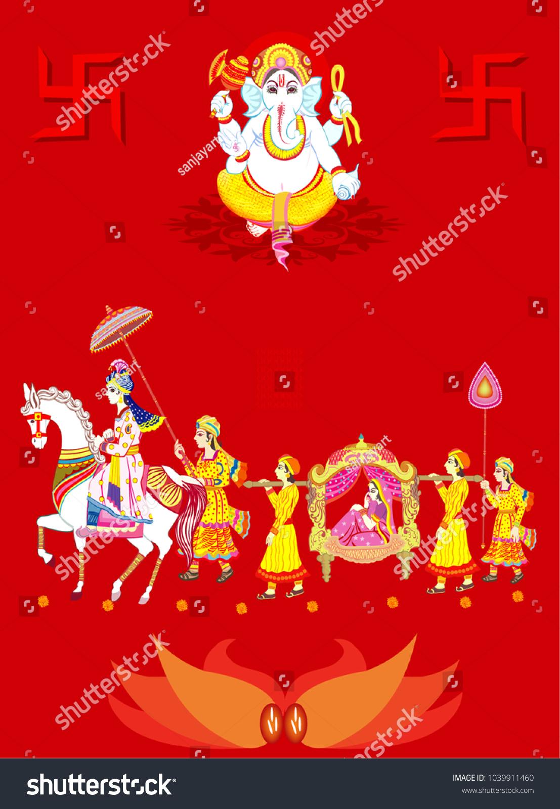 Indian Wedding Ceremony . Indian Hindu Wedding Invitation Card All ...