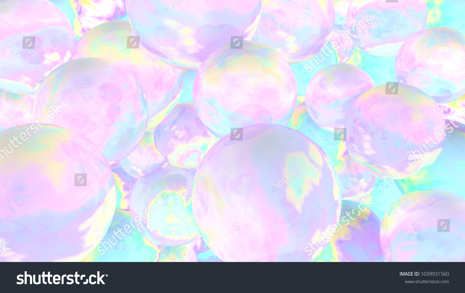 Holographic bubbles 3d illustration abstract background stock holographic bubbles 3d illustration abstract background fairy wallpaper cosmic planets voltagebd Gallery