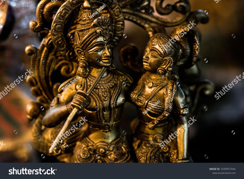 Radha Krishna Love Stock Photo (Edit Now) 1039957444