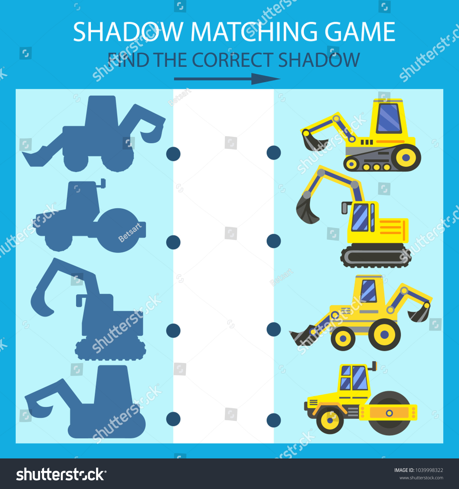Shadow Matching Game Find Correct Shadow Stock Vector (Royalty Free ...