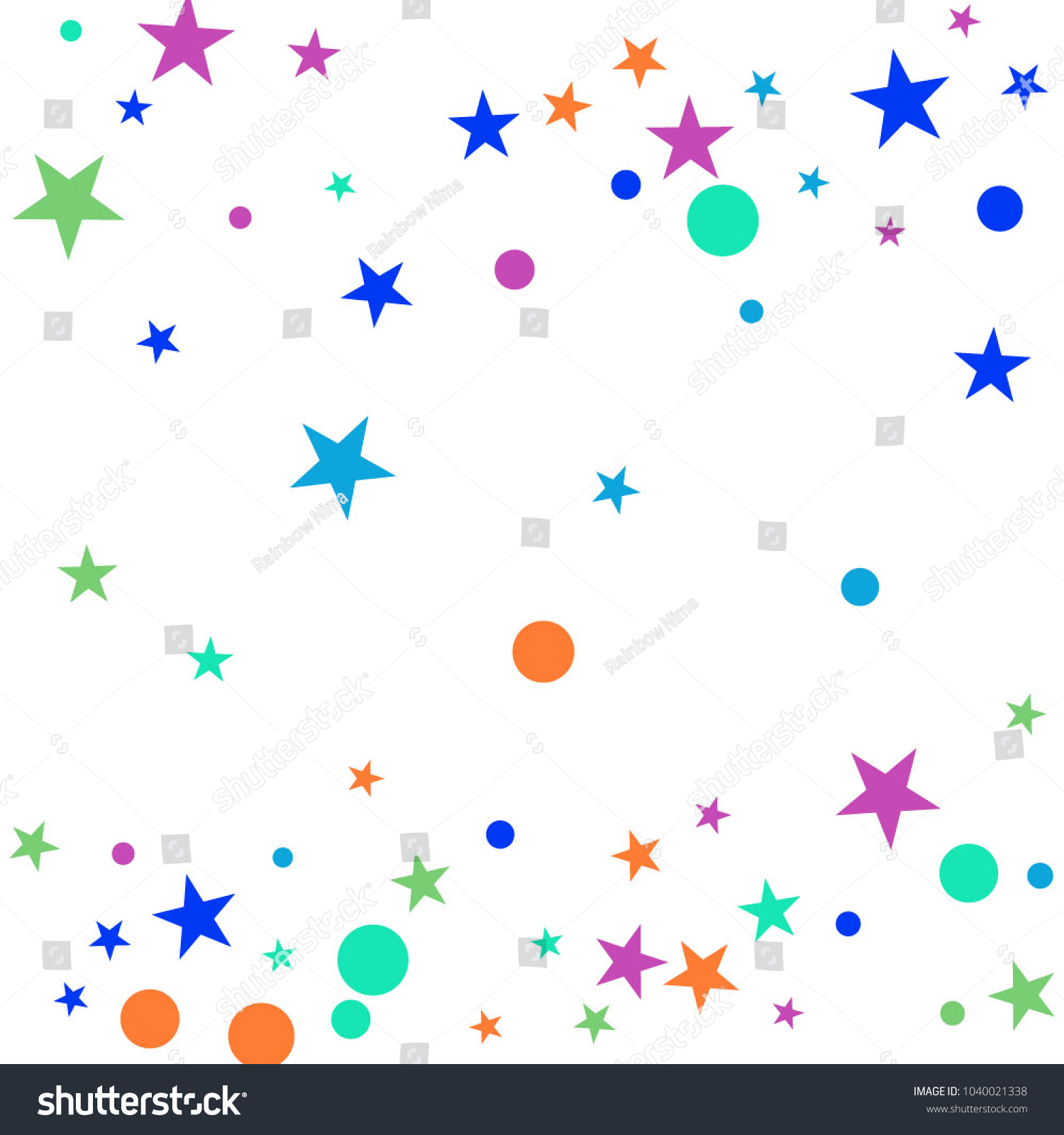 colorful polka confetti dotted starry background stock vector hd rh shutterstock com free vector confetti gold free vector confetti background