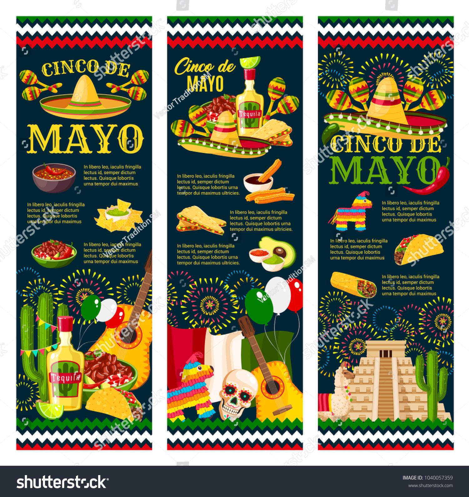 Cinco de mayo festival greeting banner stock vector 1040057359 cinco de mayo festival greeting banner for mexican holiday celebration design latin american fiesta party kristyandbryce Gallery
