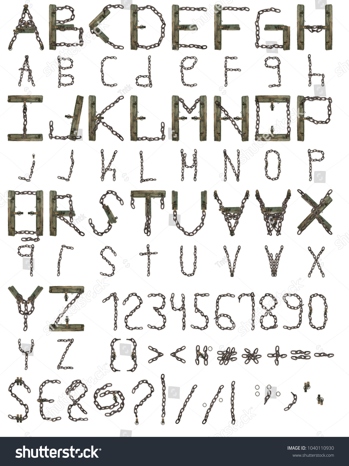 Font Uppercase Lowercase Letters Including Numbers Stock Photo Edit