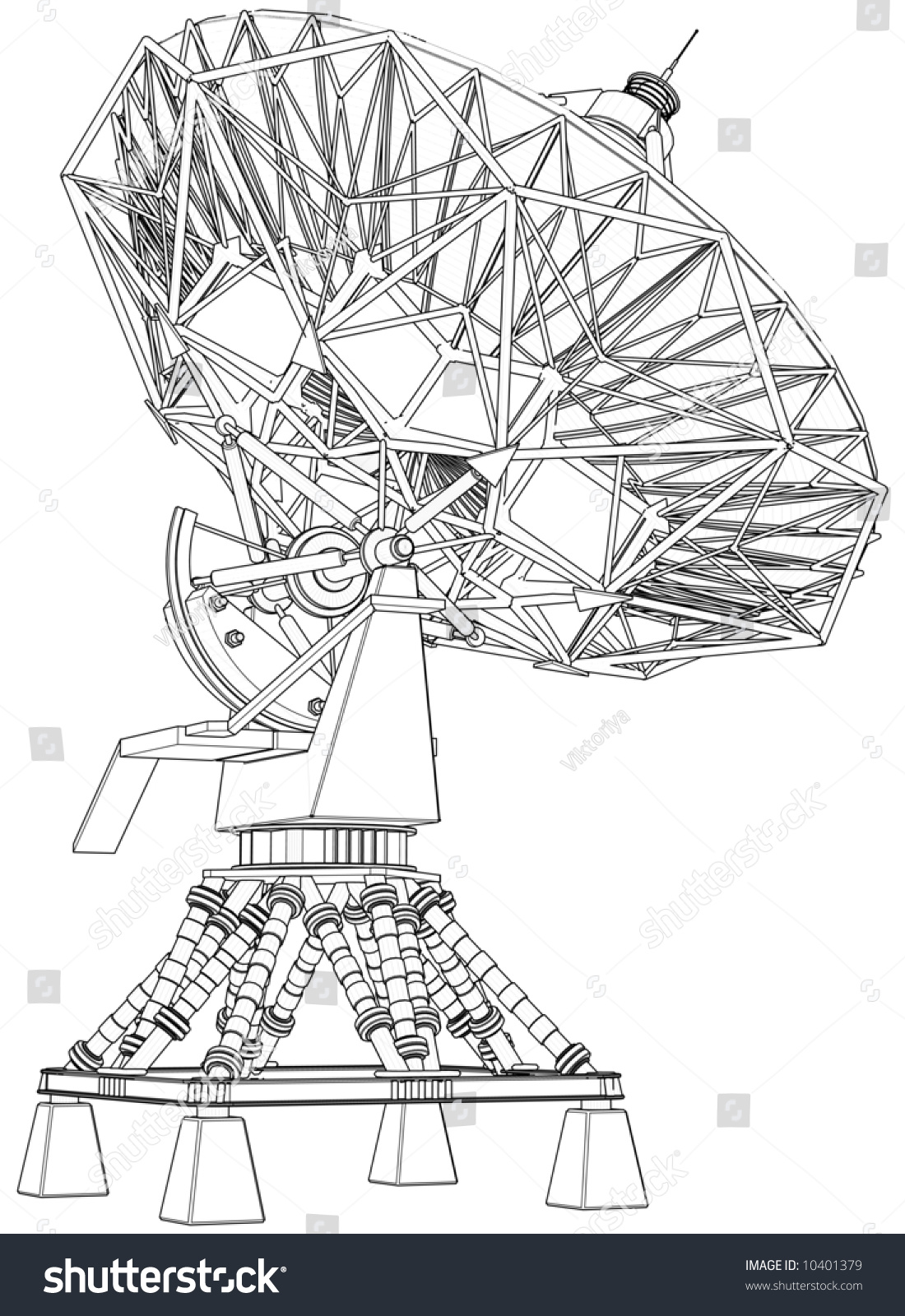 Doppler Radar 3 D Technical Draw Stock Illustration 10401379 ...