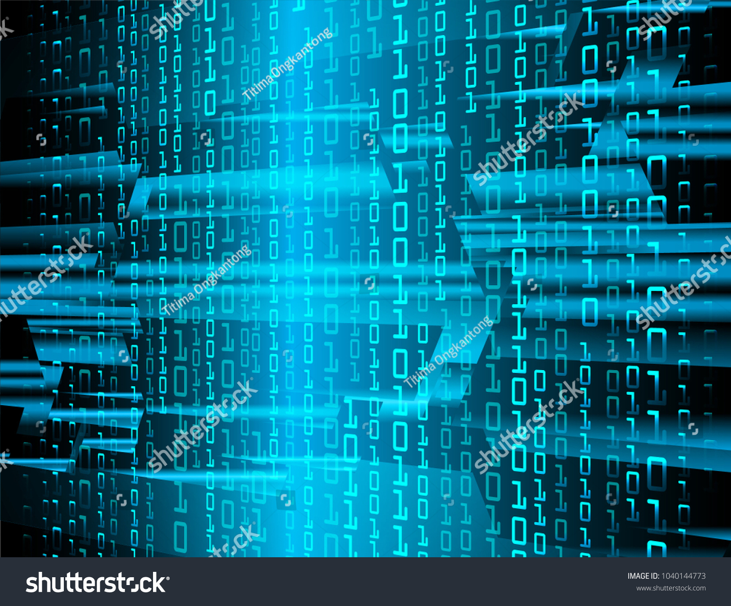 Binary Circuit Board Future Technology Blue Cyber Security Concept Background Vector Abstract Design Id 1040144773