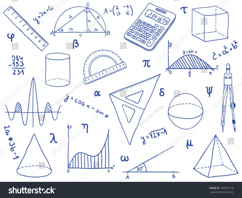 Illustration mathematics school supplies geometric shapes stock illustration of mathematics school supplies geometric shapes and expressions math icon symbols ccuart Image collections
