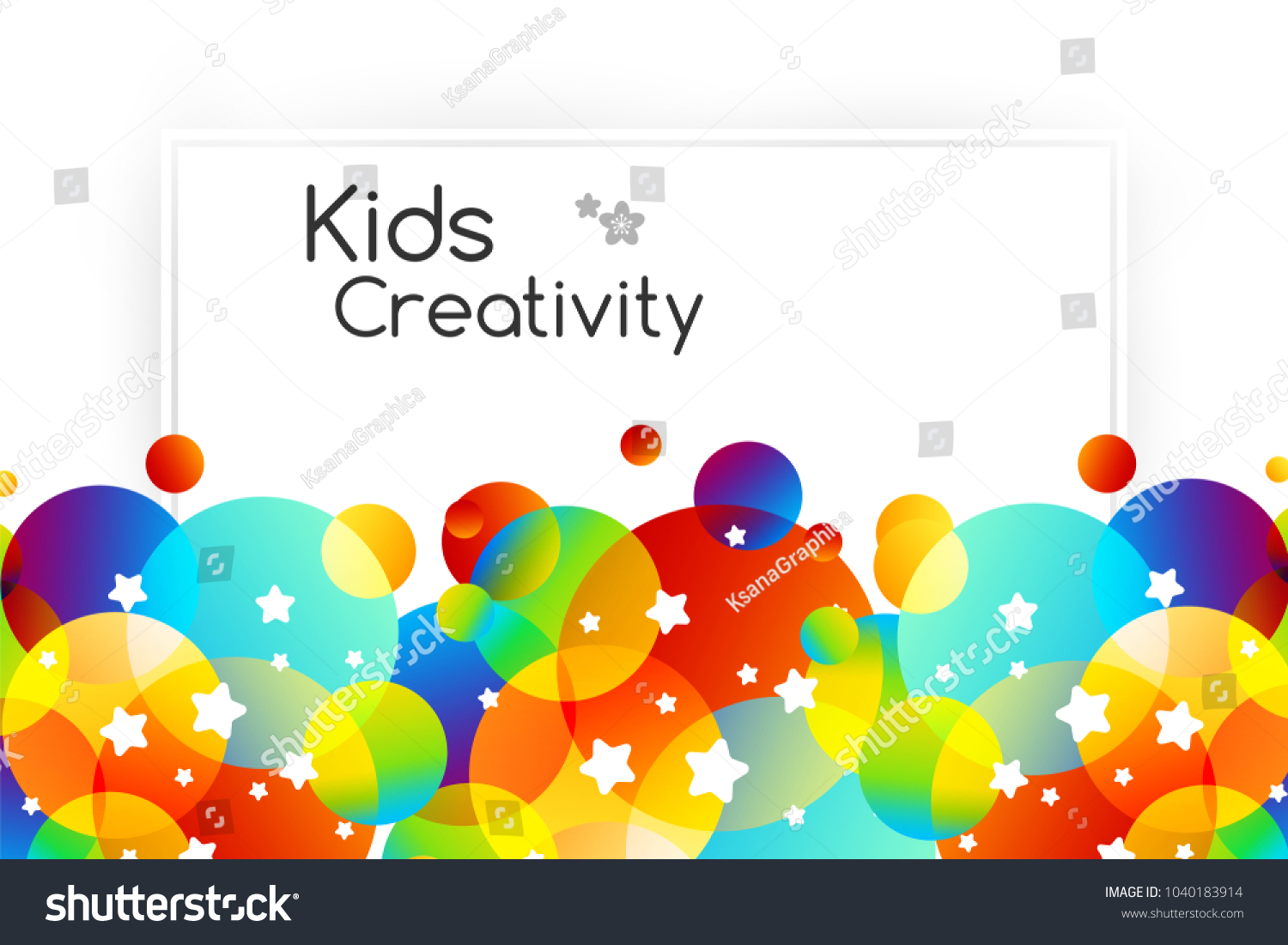 Creative Kids Cards Colorful Bubble Decoration Stock Vector Royalty