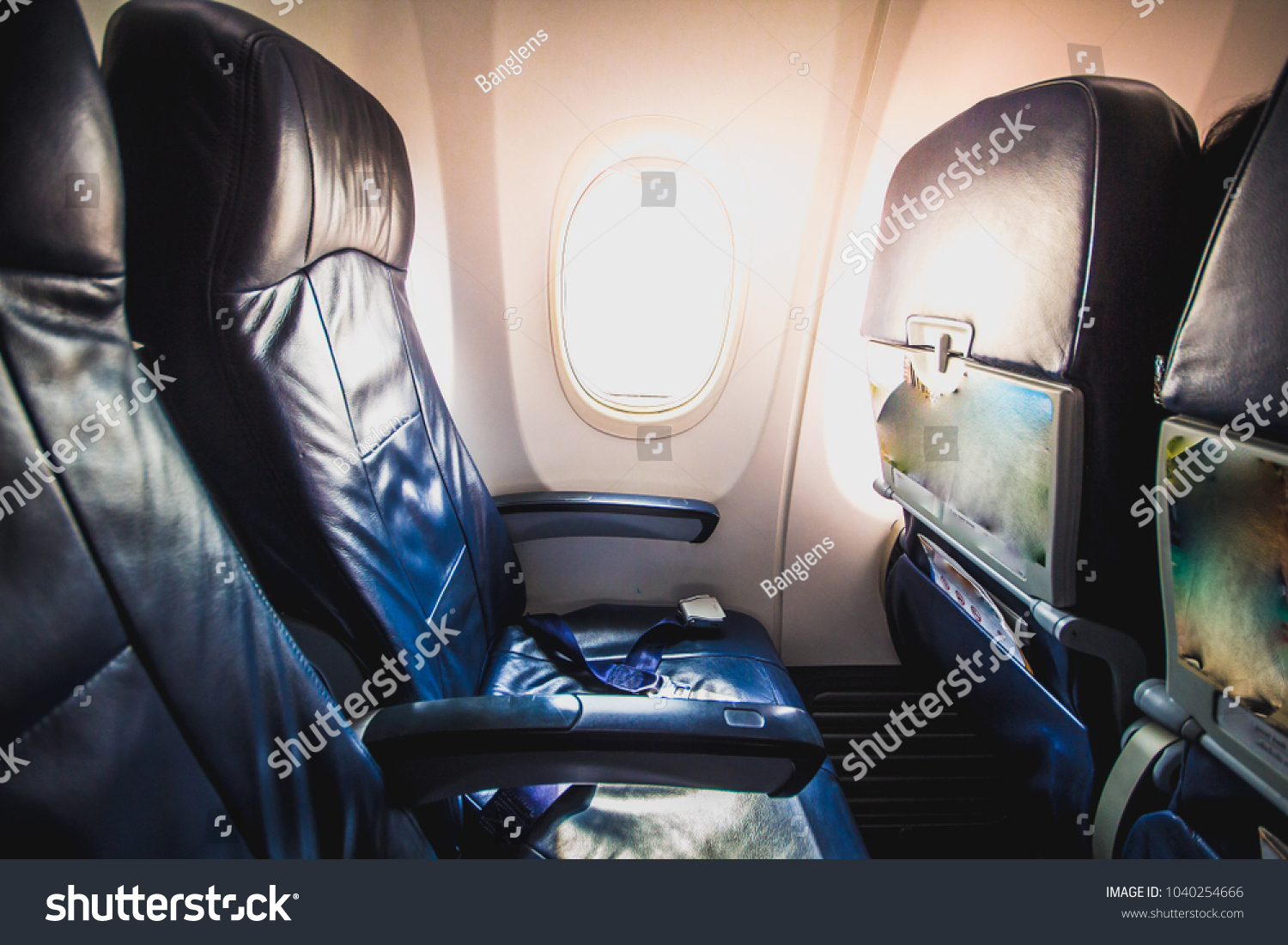 airplane chair belt lock ensure safety stock photo royalty free