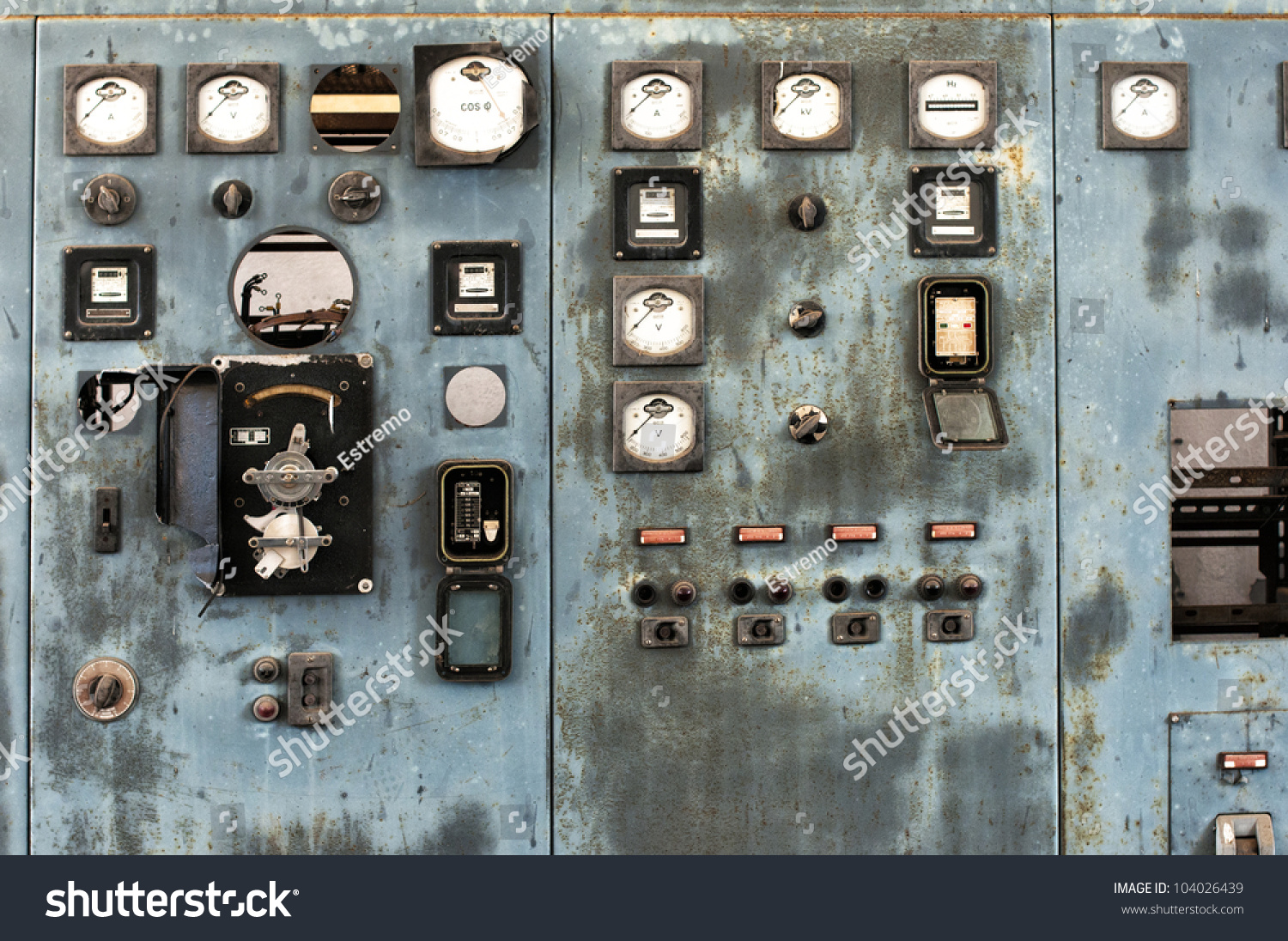 Old Control Panel Levers : Old control panel stock photo shutterstock