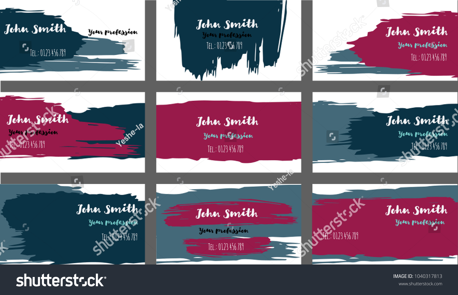 Ink brushed business cards banners vector stock vector 1040317813 ink brushed business cards banners vector set amazing painted horizontal ads background cool colourmoves
