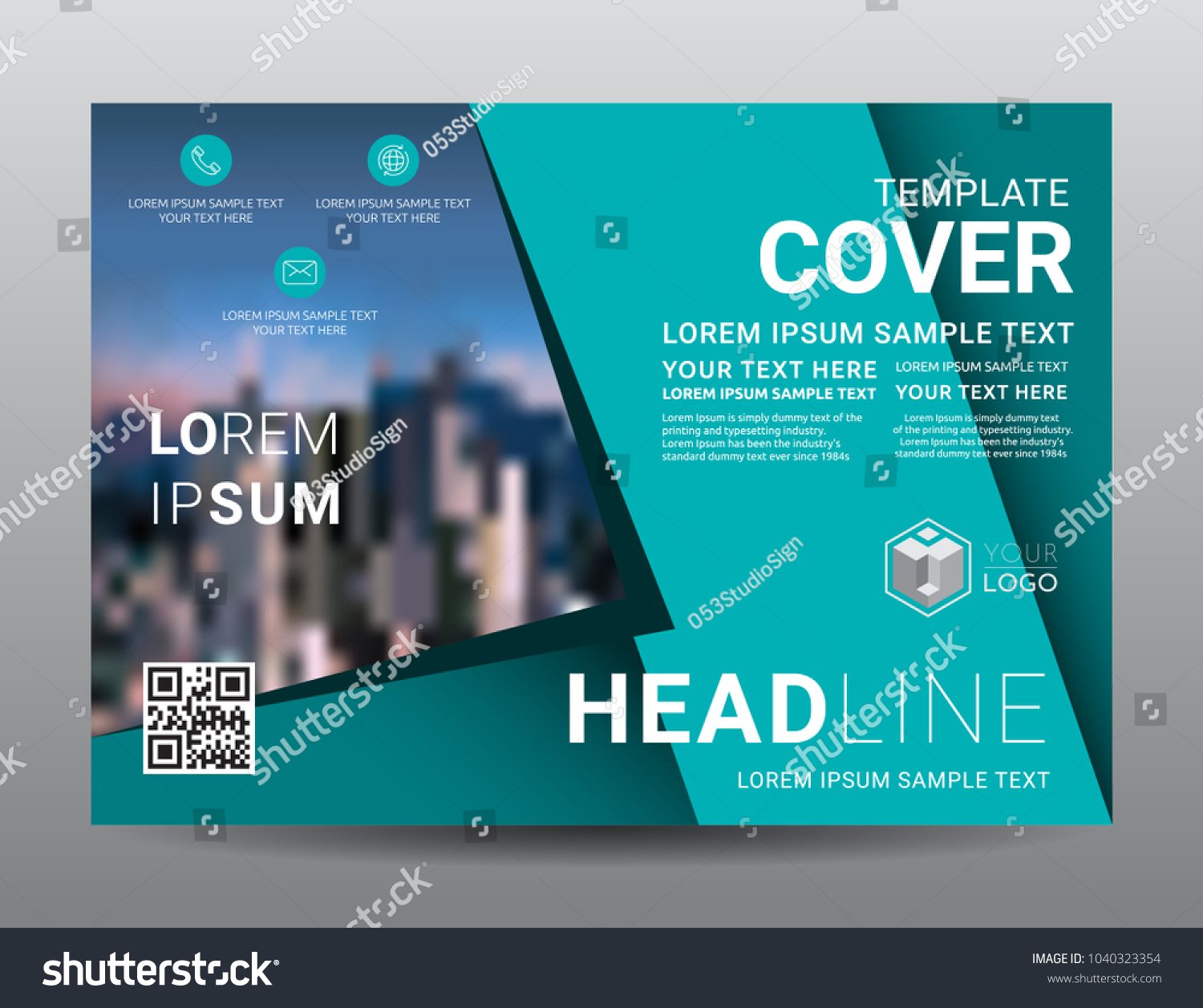 Presentation Layout Design Template Business Financial Stock Vector ...