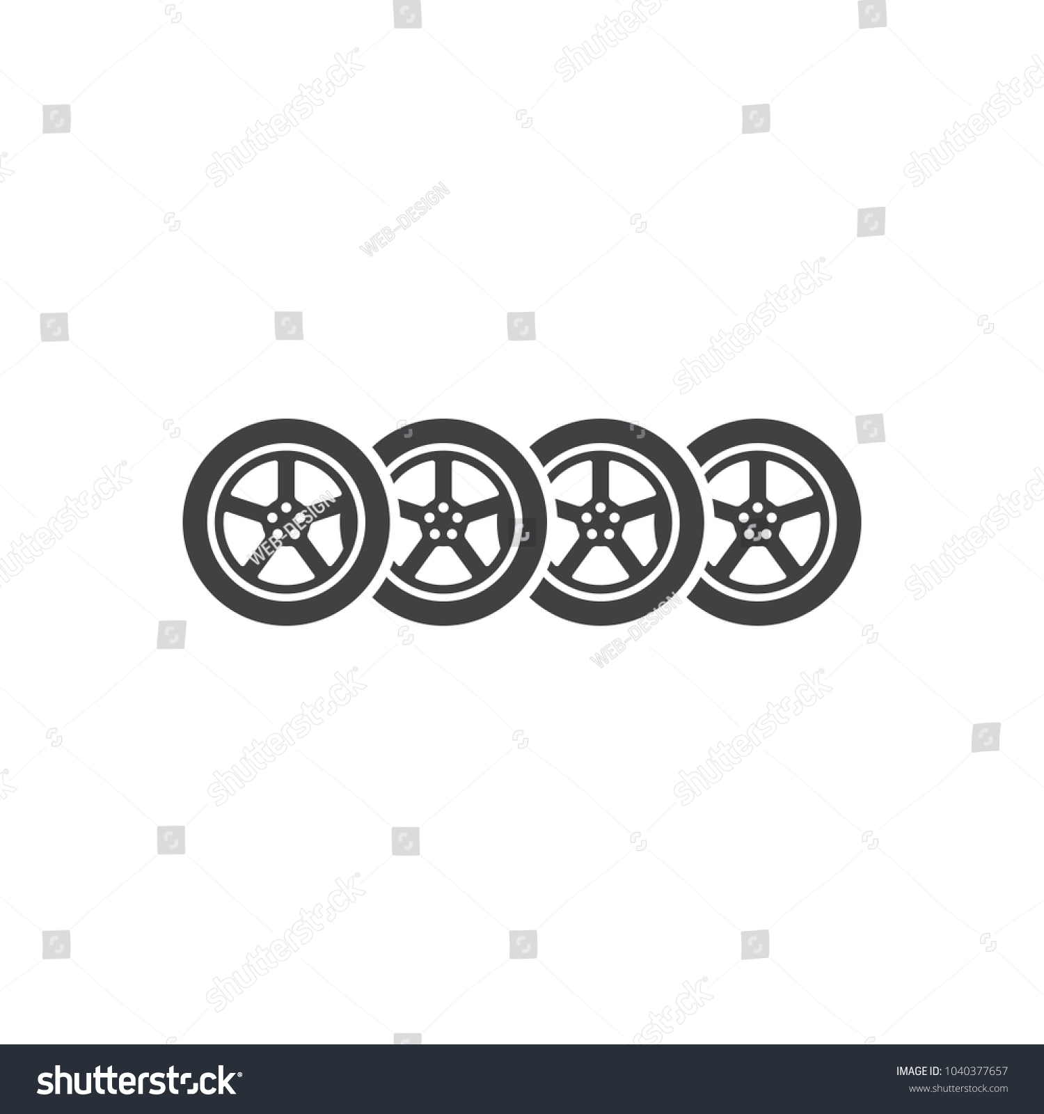Logo Auto Parts Company Car Wheel Stock Vector Royalty Free