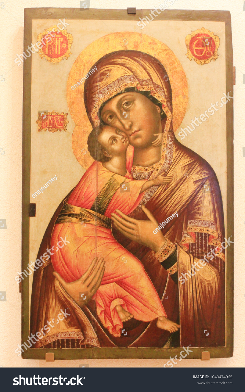 St Petersburg Russia February 5 2018 Madonna And Child Icon Of
