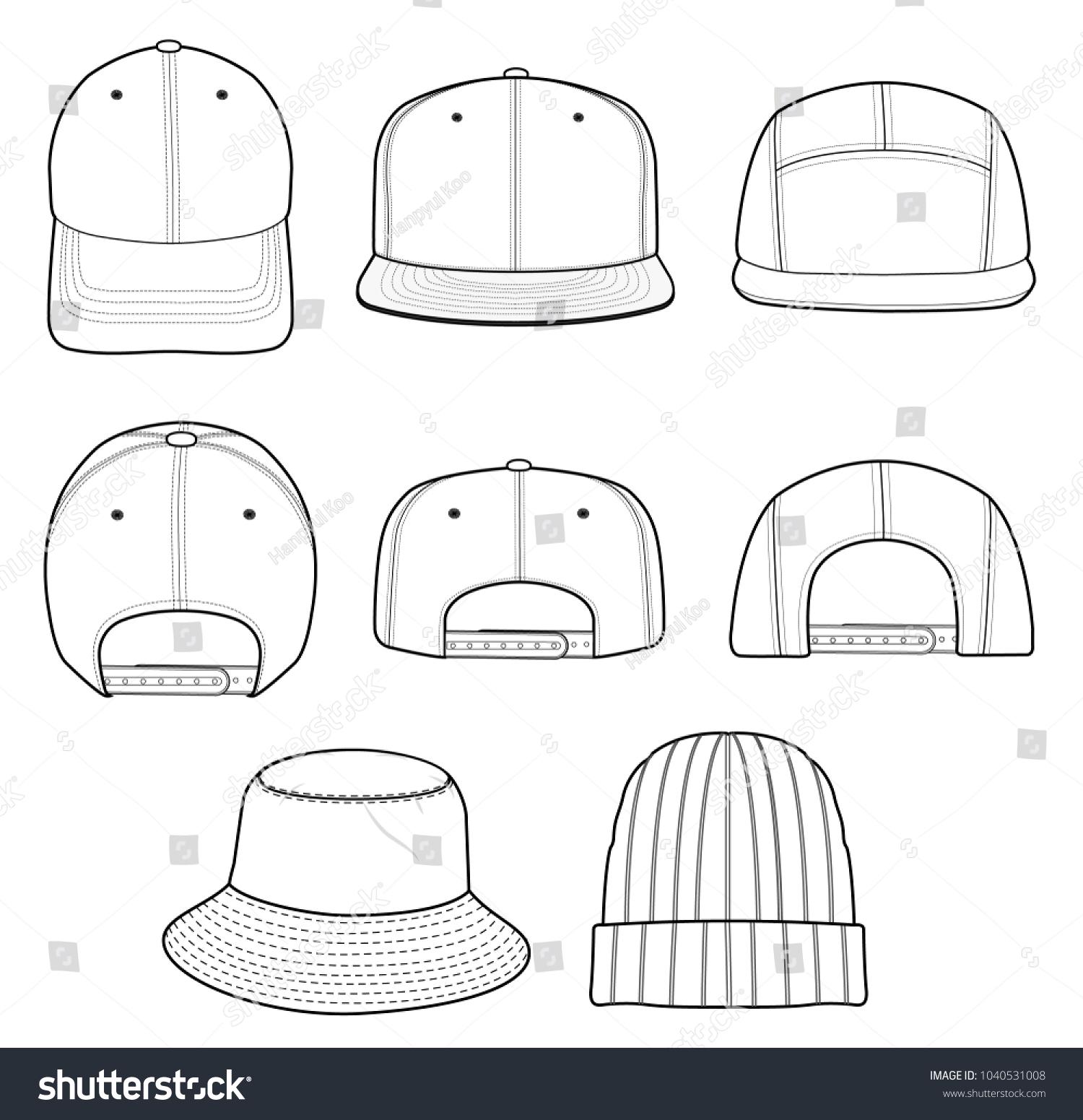 hat beanie design 2018 illustration flat stock vector royalty free