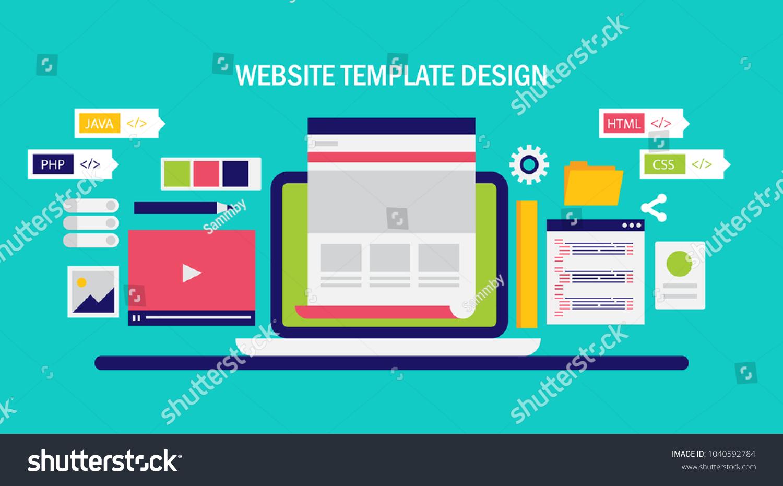 Website Template Development Website Redesign Programming Stock