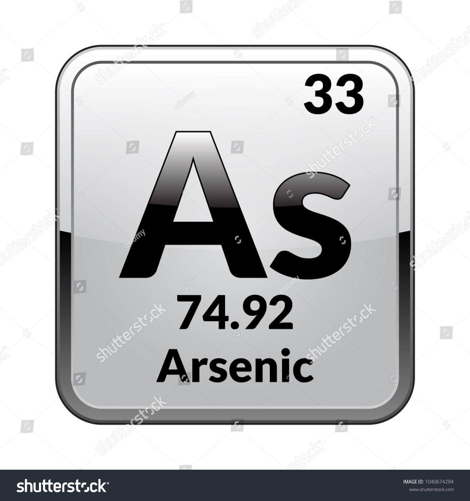 Arsenic symbolchemical element periodic table on stock vector arsenic symbolemical element of the periodic table on a glossy white background in a biocorpaavc Image collections