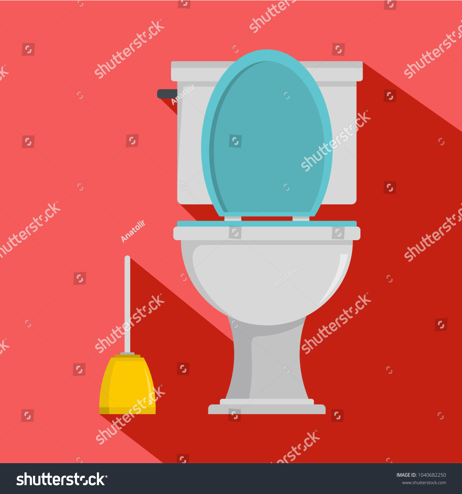 Comfort Toilet Icon Flat Illustration Comfort Stock Vector (Royalty ...