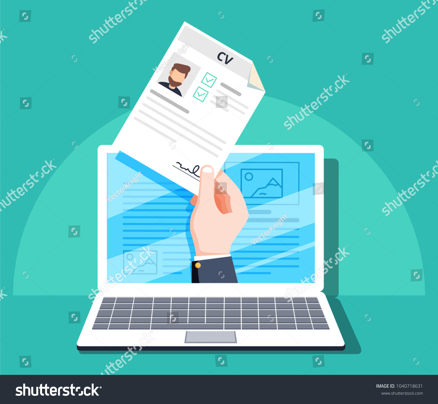 shutterstock image reviewer salary Human Resources Online Job Application Job Stock Vector (Royalty ...