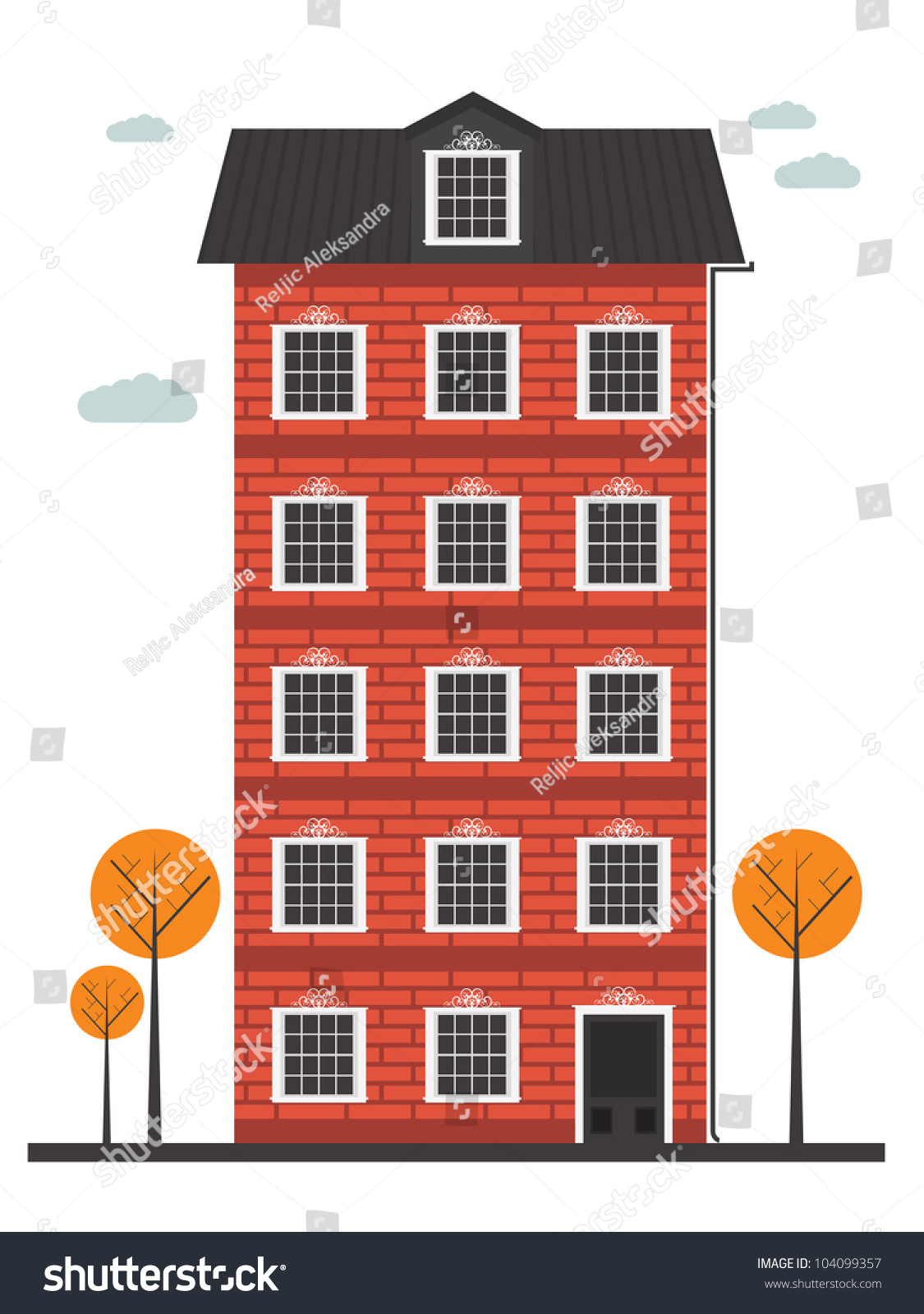Cartoon Building Stock Vector 104099357 - Shutterstock