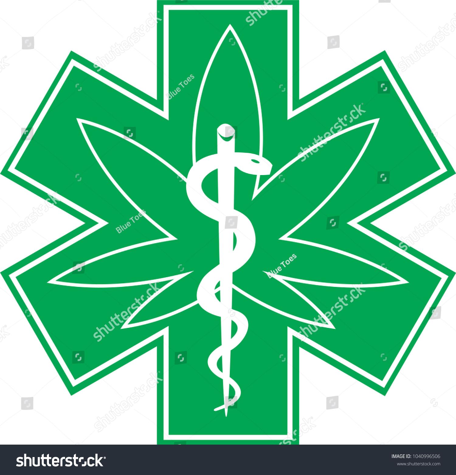 Medical Marijuana Cannabis Medical Symbol Icon Stock Vector Royalty