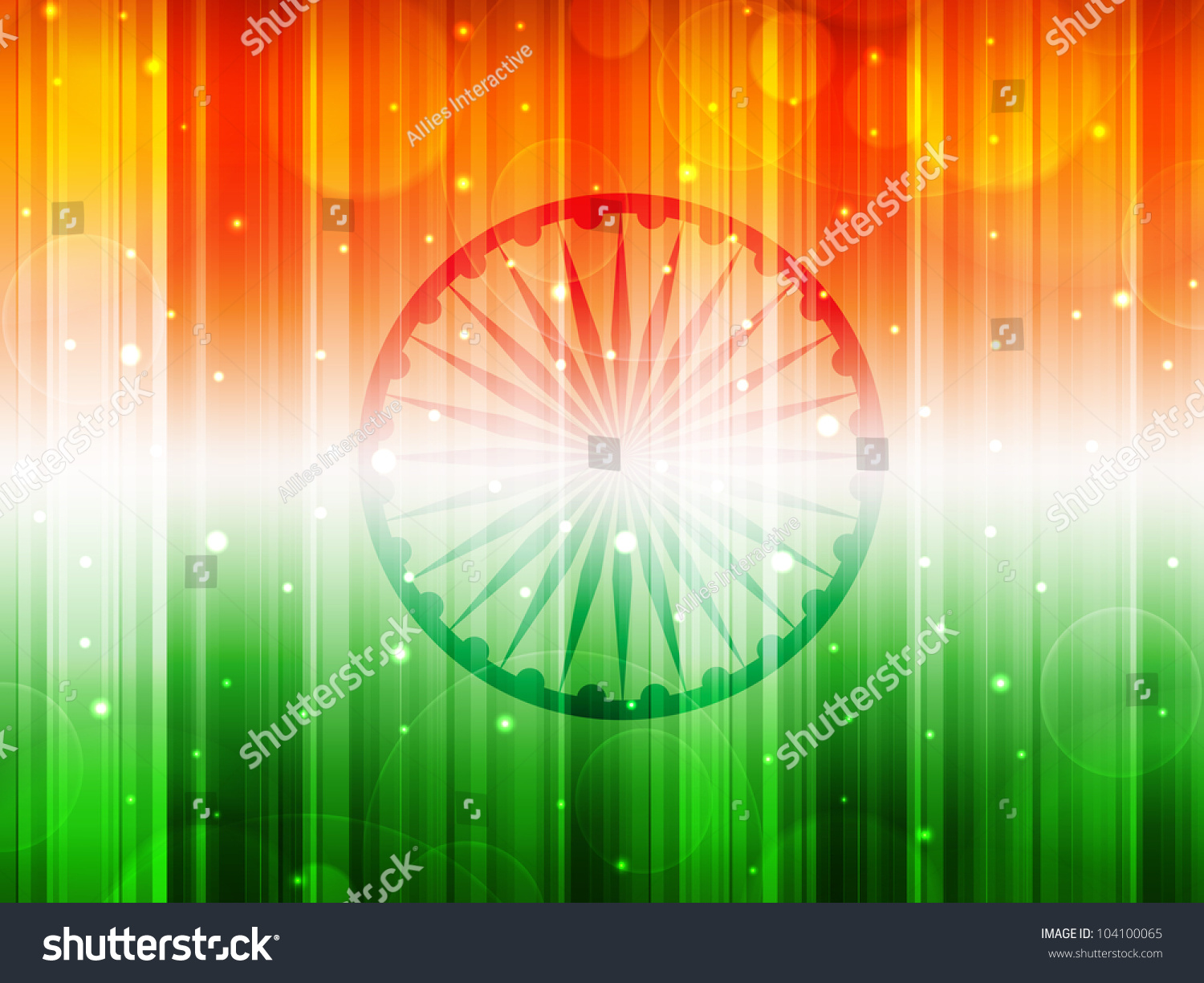 Indian Flag Theme: Indian Flag Theme Background With Shiny Effect For