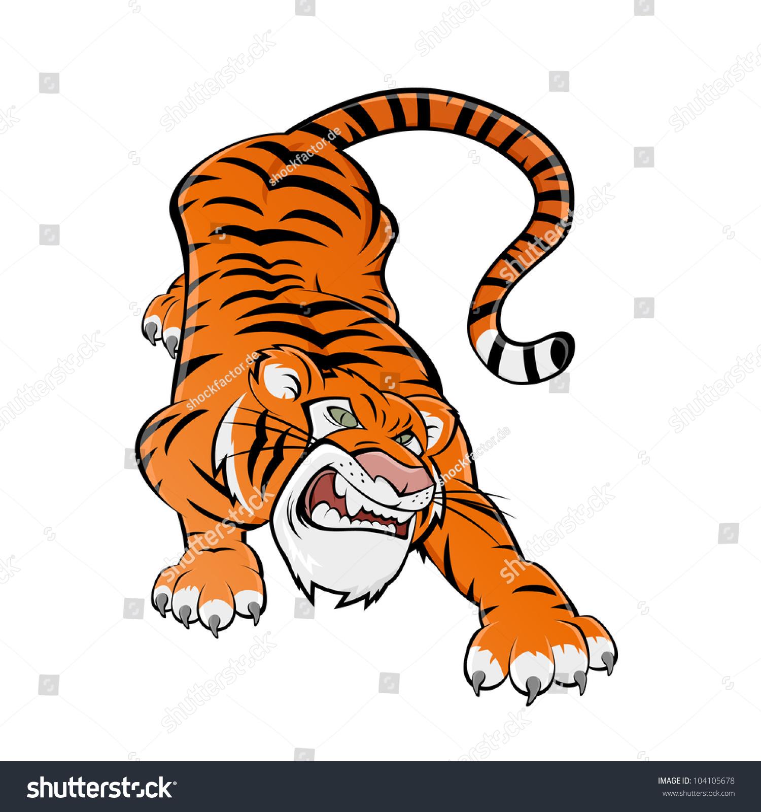 Tiger Cartoon Stock Photos, Royalty-Free Images & Vectors ...