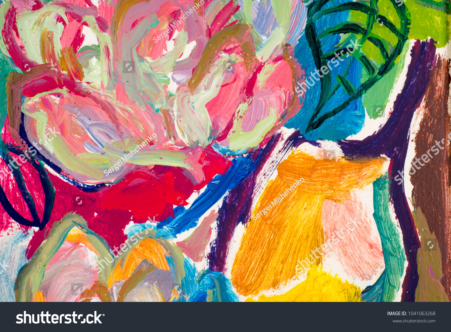Painted oil painting has the name painted abstract drawing texture background a picture