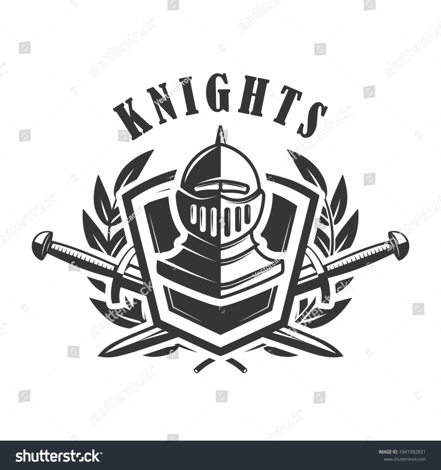 knights emblem template medieval knight helmet のベクター画像素材