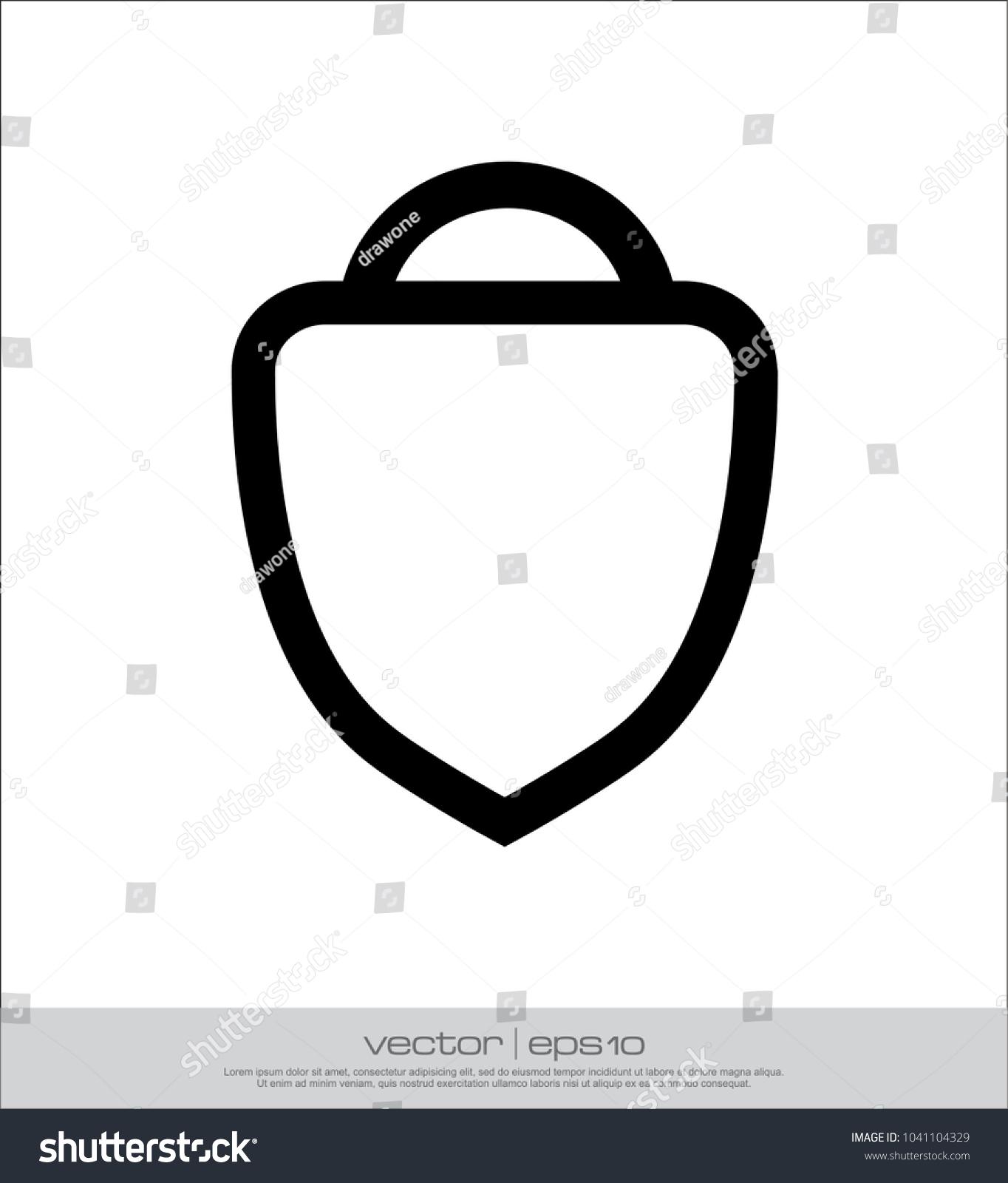 V Shield Template Stock Vector 1041104329 - Shutterstock