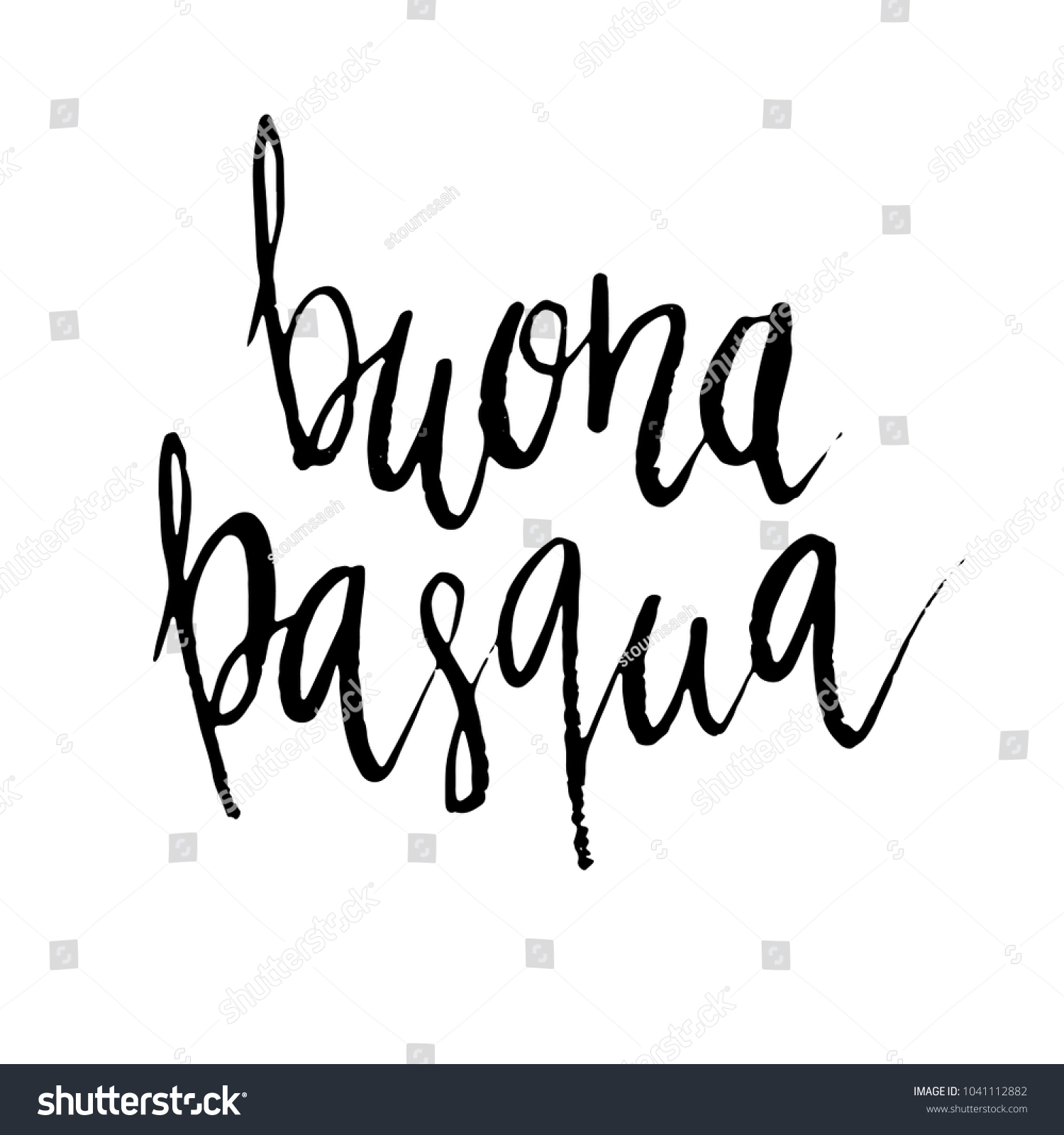 Buona Pasqua Happy Easter Italian Hand Stock Vector Royalty Free