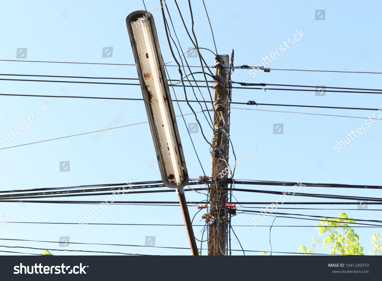 Street Neon Light Messy Electrical Wires Stock Photo (Royalty Free ...
