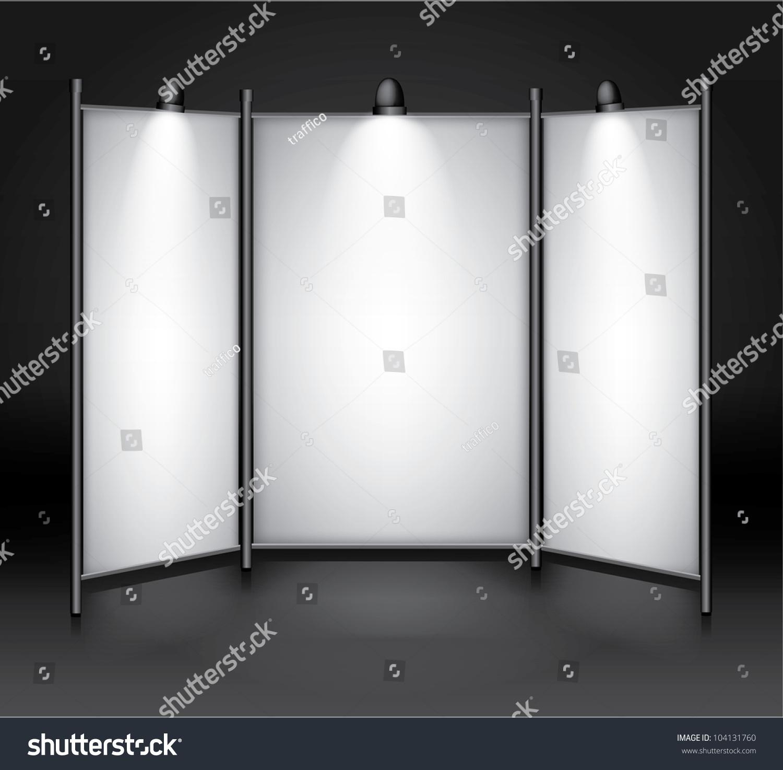 Exhibition Booth Vector : Vector blank exhibitionshow booth stock