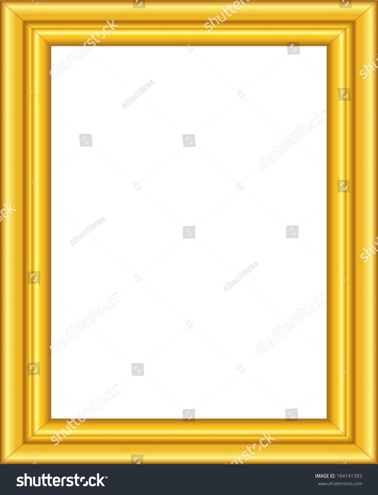 Beautiful golden framework. Vector picture frame.
