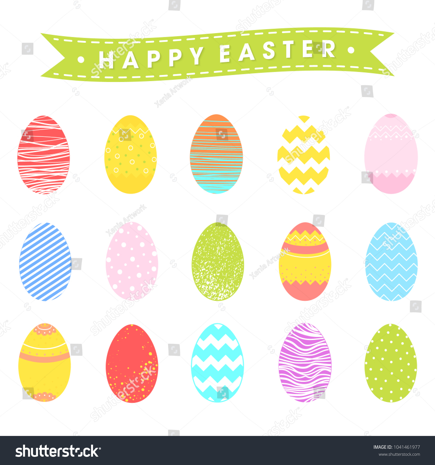 Happy easter colorful eggs seasons greetings stock vector royalty happy easter with colorful eggs seasons greetings card perfect for prints flyersbanners m4hsunfo
