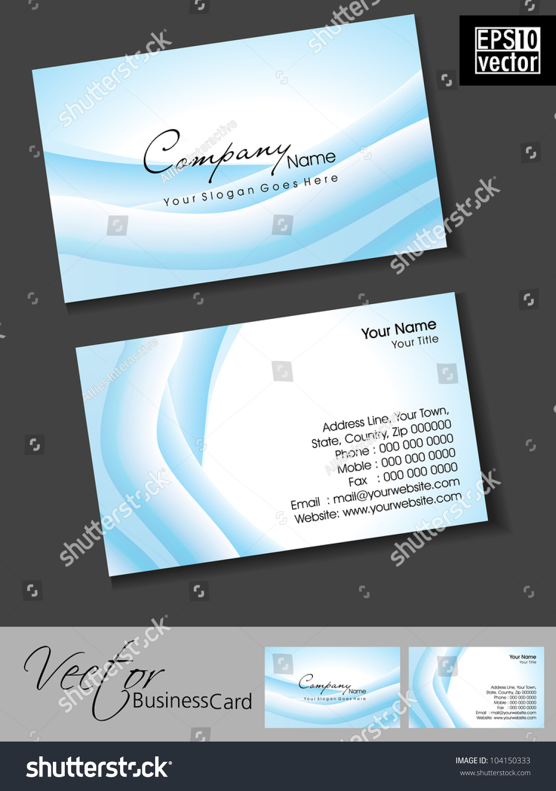 Abstract professional designer business card template stock vector abstract professional and designer business card template or visiting card set with blue waves effect pronofoot35fo Choice Image