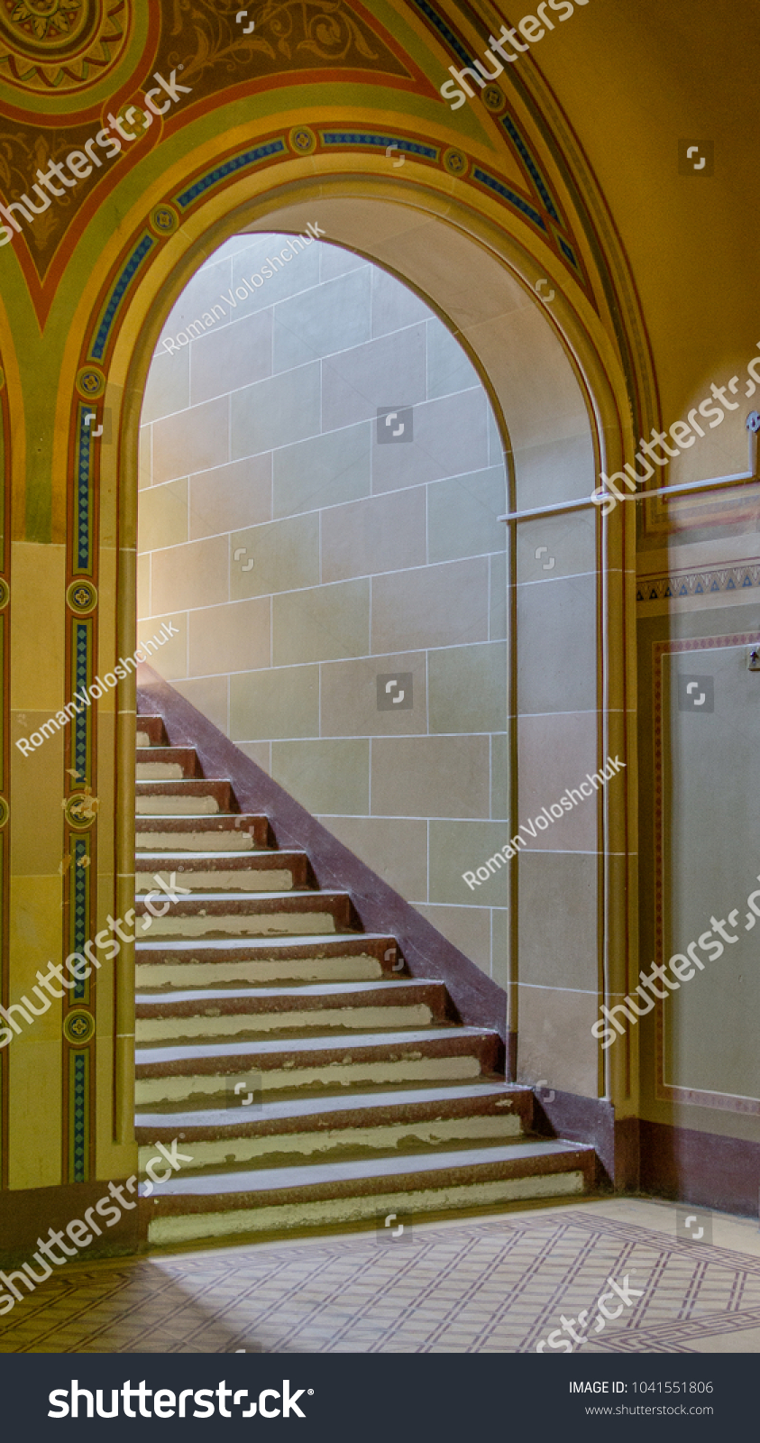 Colourful Interior Floor Stairs Archway Door Stock Photo Edit Now