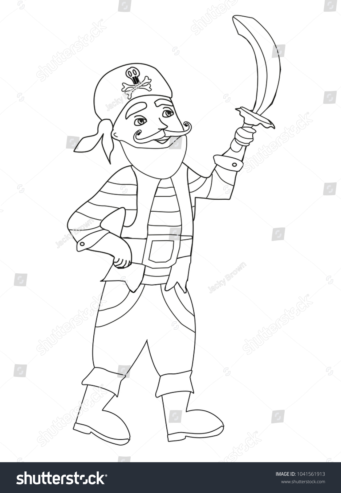 Funny Pirate Coloring Book Stock Illustration 1041561913 - Shutterstock