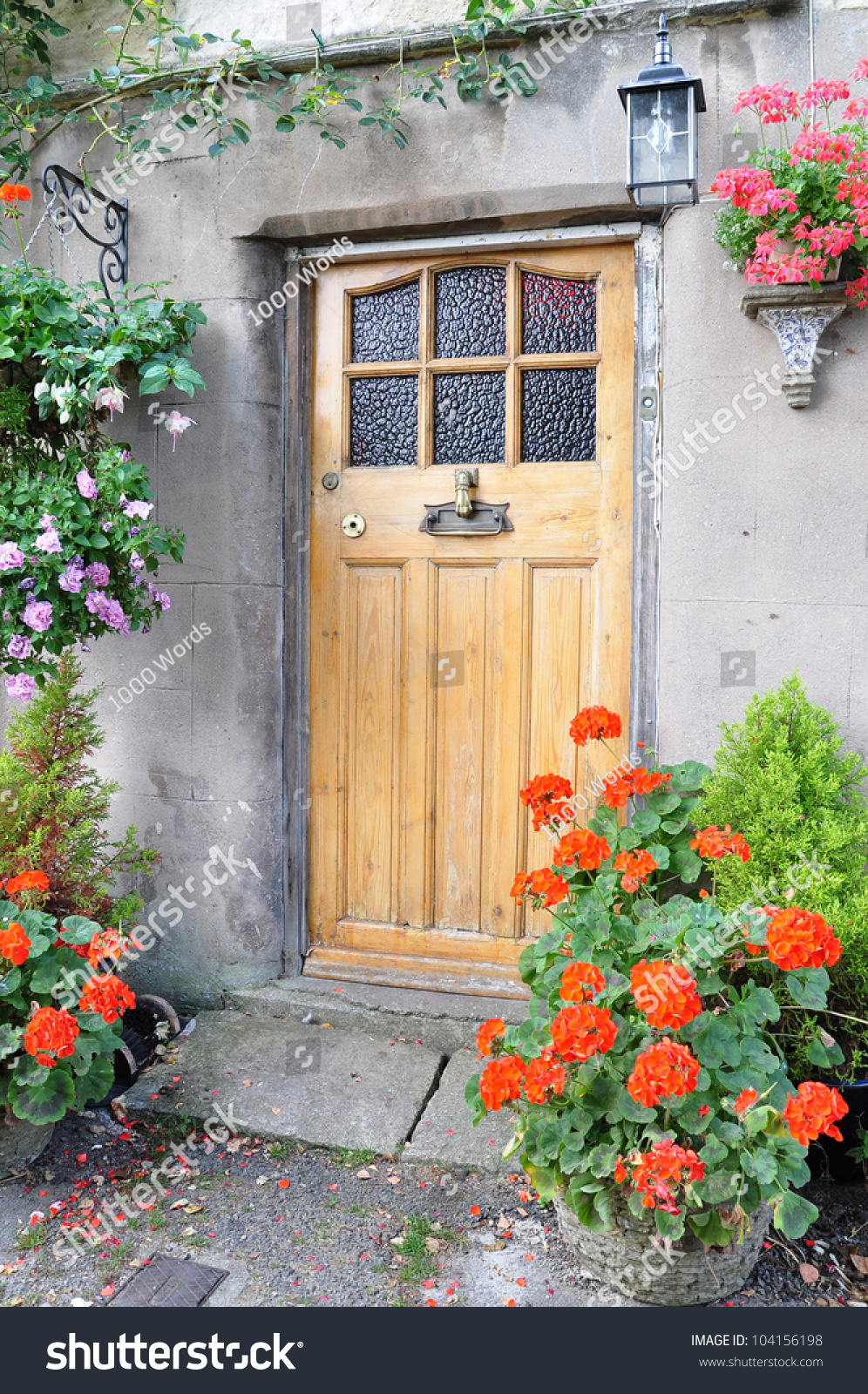 Front door of an old english cottage - Front Door Of An Old English Cottage Preview Save To A Lightbox