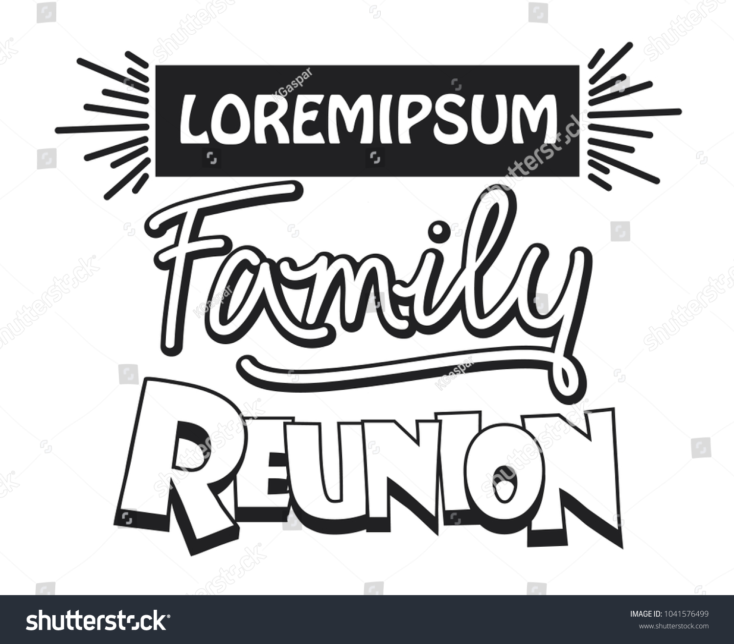 Family Reunion Template Design Stock Vector Royalty Free