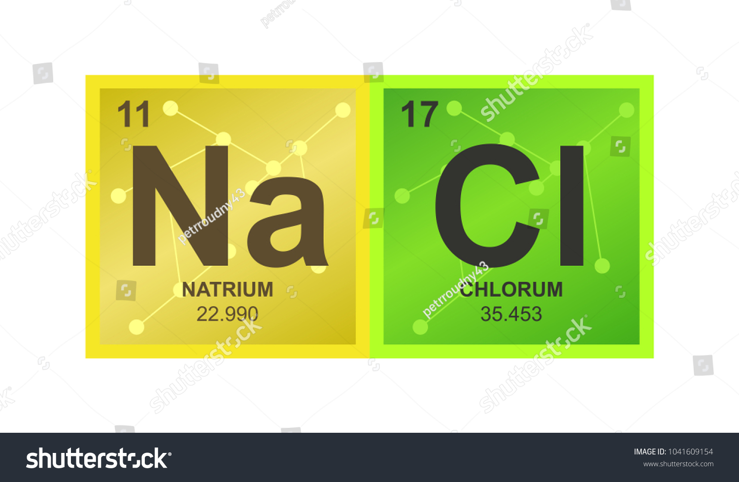 Vector Symbol Sodium Chloride Which Consists Stock Vector 2018