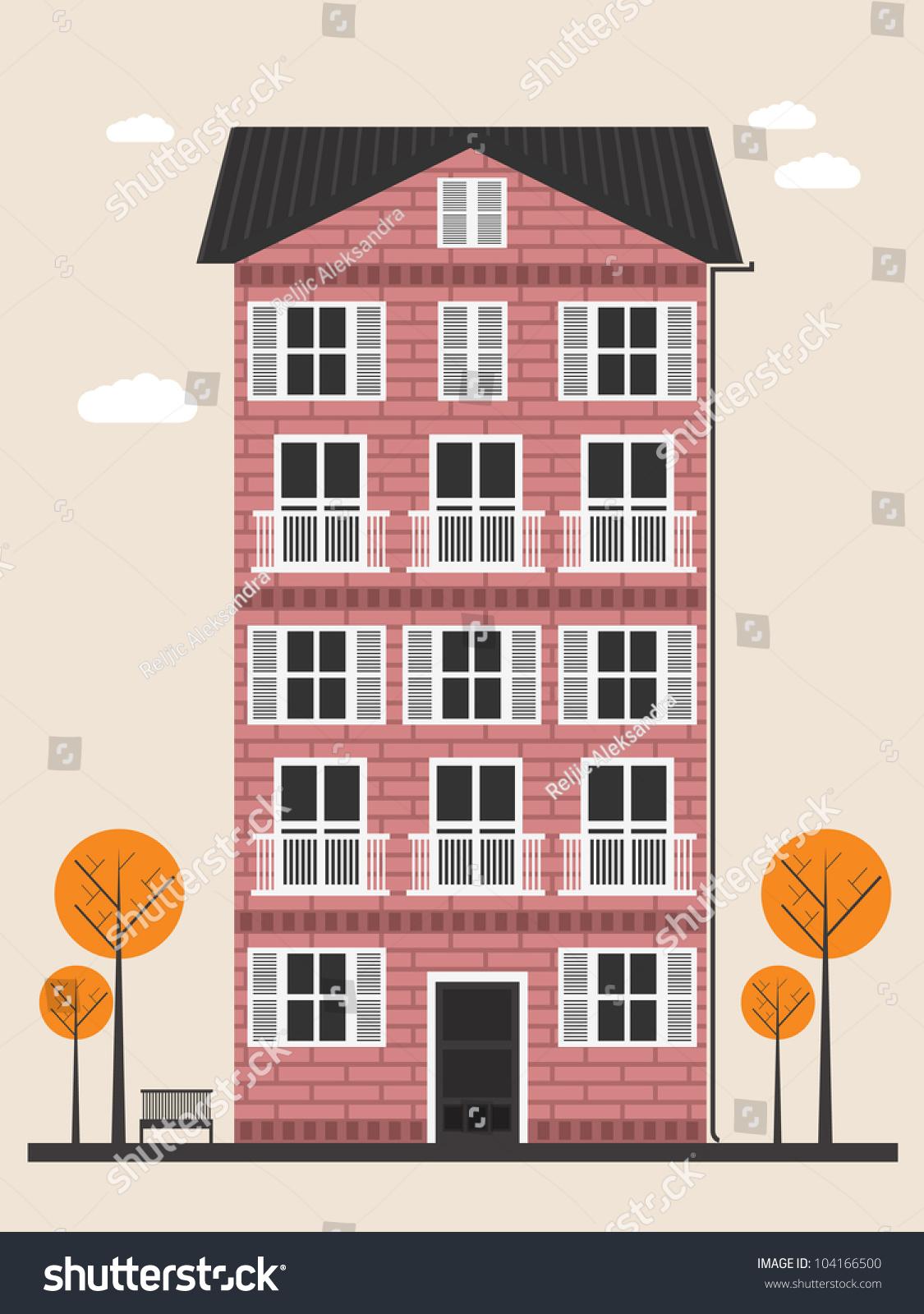 Cartoon Building Stock Vector 104166500 Shutterstock