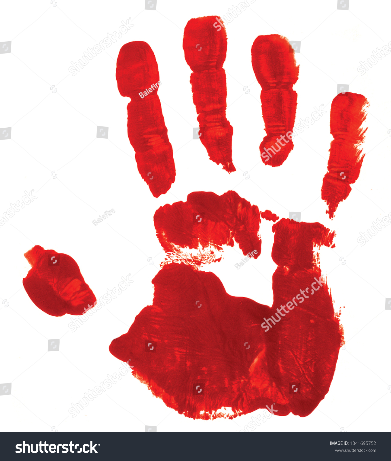 Red hand print on white background stock photo 1041695752 shutterstock red hand print on white background suggesting a bloody hand a possible symbol of guilt buycottarizona Gallery