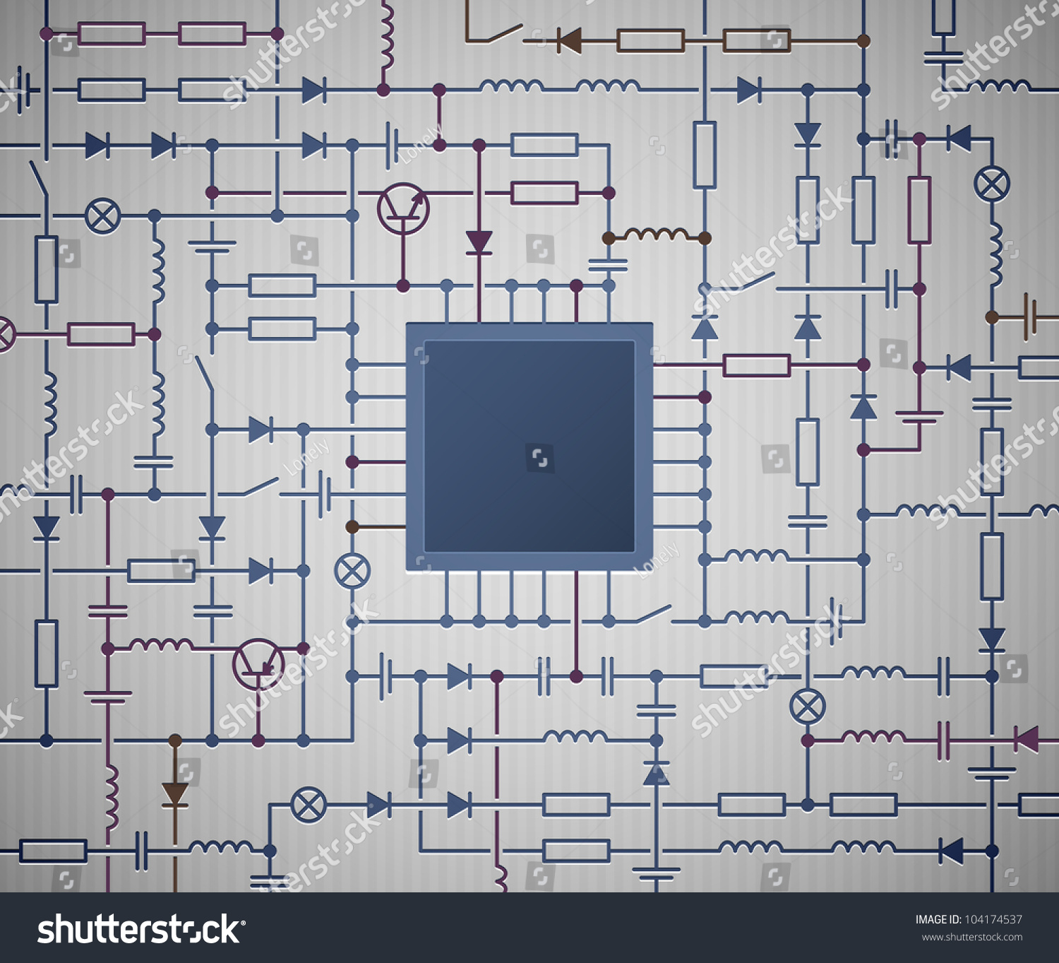 Schematic For A Processor Experts Of Wiring Diagram Electric In Addition Jackson Emg Pickups Diagrams Background Electrical Circuit Stock Vector Rh Shutterstock Com Pentium Schematics