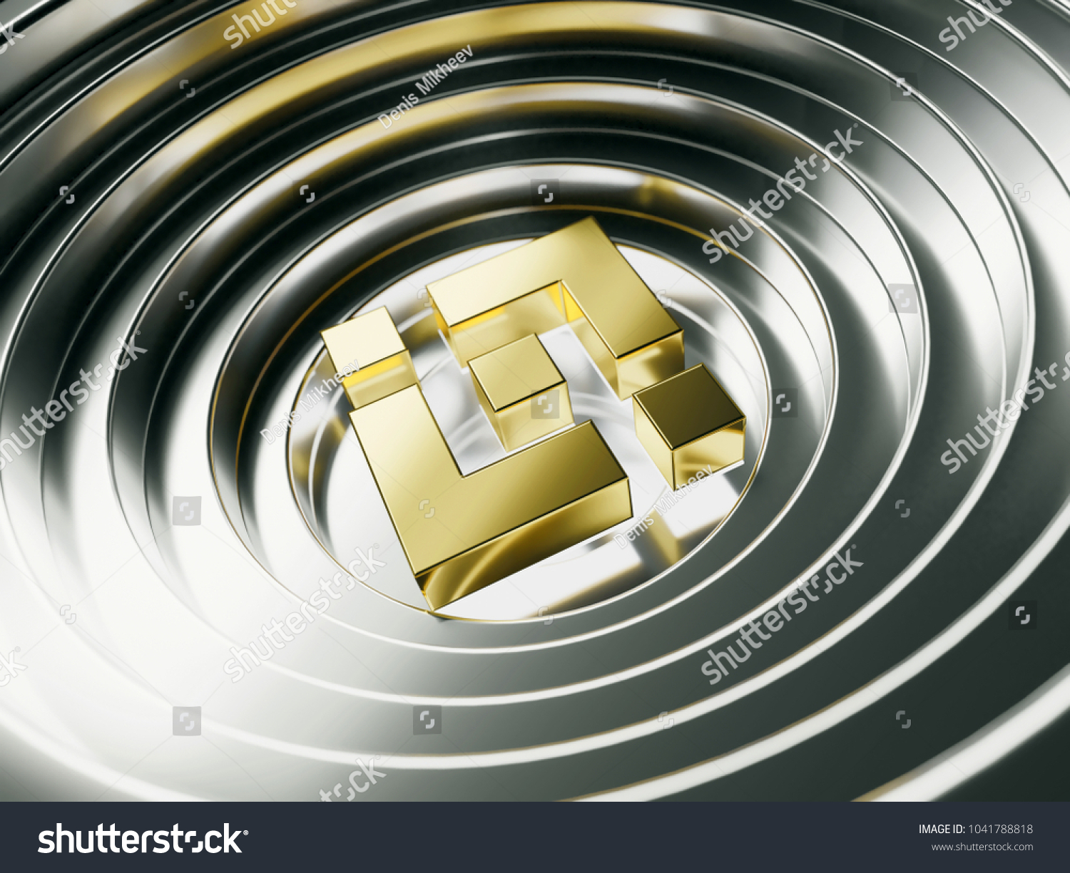Golden Binance Coin Crypto Currency Symbol Stock Illustration
